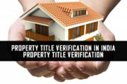 Property Title Verification In India | Property Title Verification